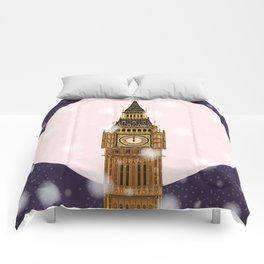 London Christmas Eve Comforters