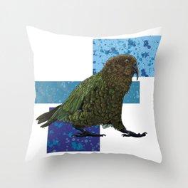 NZ Native Birb Collection - Kea Throw Pillow