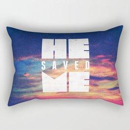 He Saved Me - Titus 3:4 Rectangular Pillow