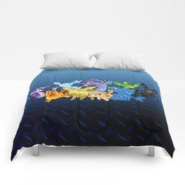 """""""The Dream Team"""" - X & Y Eeveelutions Comforters"""
