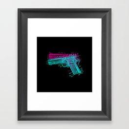 Gun Diagram Framed Art Print
