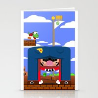mario Stationery Cards featuring Mario by Ryan Miller