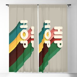 HIP HOP - typography Blackout Curtain