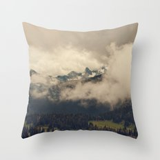Mountains through the Fog Throw Pillow
