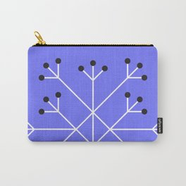 Mod Snowflake Purple Carry-All Pouch
