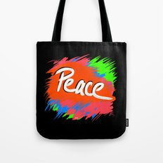 Peace (retro neon 80's style) Tote Bag