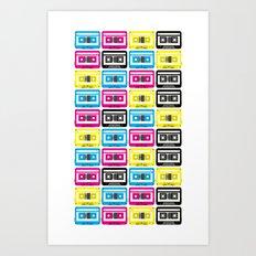 CMYK Cassette Tapes Art Print