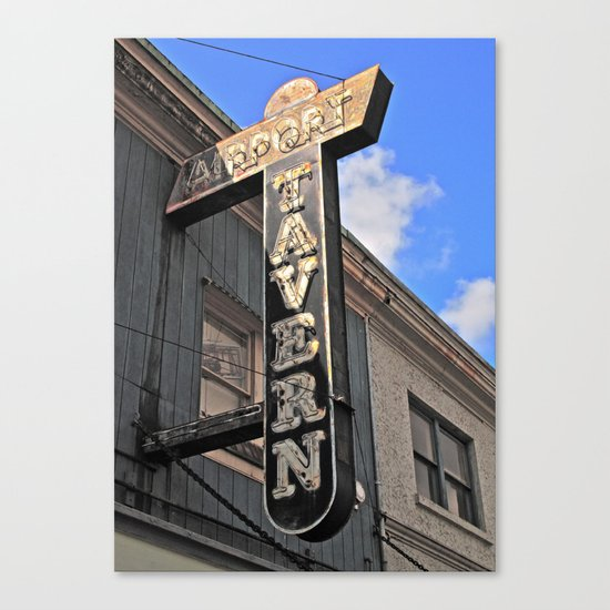 Old tavern sign Canvas Print