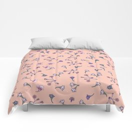 Tiny pastel flowers Comforters
