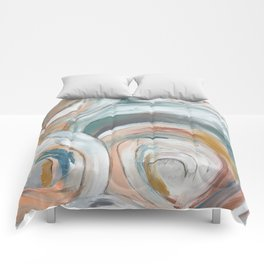 Abstract chic - cirlces and dots Comforters