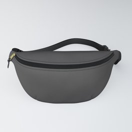 Solid Charcoal Gray Grey Fanny Pack