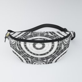 Geometric black and white Fanny Pack