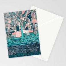 washington dc city skyline Stationery Cards