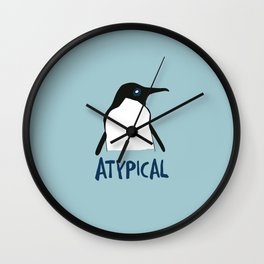 Atypical penguin Wall Clock