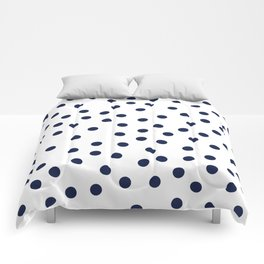 Simply Dots in Nautical Navy Comforters