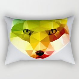 Glass Animal - FOX head Rectangular Pillow