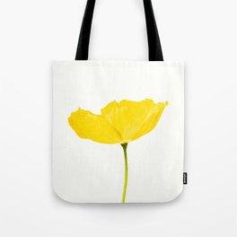 Yellow Poppy White Background #decor #society6 #buyart Tote Bag