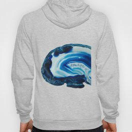 Blotchy Blue Brain Agate Slice Hoody