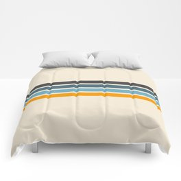 Vintage Retro Stripes Comforters