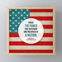 Preserved us a Nation Framed Mini Art Print