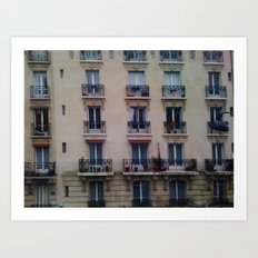 Paris: Apartment Building Art Print