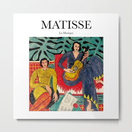 Matisse - La Musique Metal Print