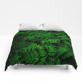 Deep Forest Ferns Comforters