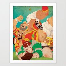 Rugbear Art Print