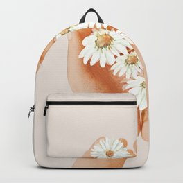 Hands Holding Flowers Backpack