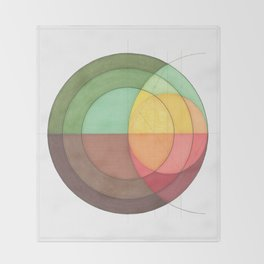 Concentric Circles Forming Equal Areas Throw Blanket