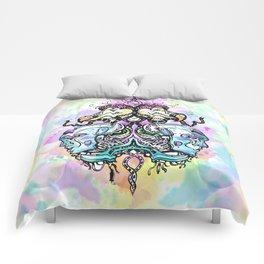 Robots vs Dodo - Festival - Colorful - Art by Lana Chromium Comforters