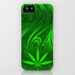 weed phonecase1 green2 iPhone Case
