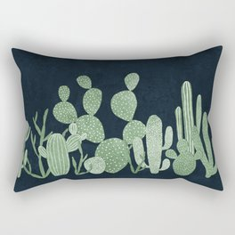 Green cactus garden Rectangular Pillow