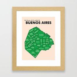 Los Barrios de la Cuidad de Buenos Aires Framed Art Print