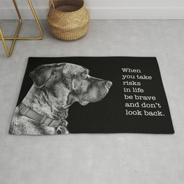 Silver Ridgeback, don't look back Rug
