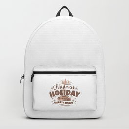 Christmas Holiday Merry & Bright co Backpack