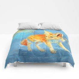 Sound of the Desert - Fennec Fox digital painting Comforters