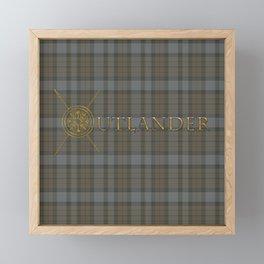 OUTLANDER TARTAN GOLD Framed Mini Art Print