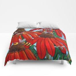 Bee Happy by DeeDee Draz Comforters