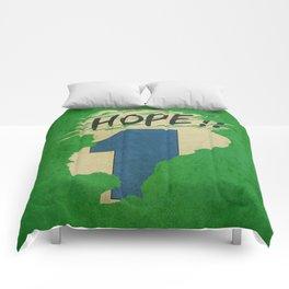 Hope!! (time machine ) Comforters