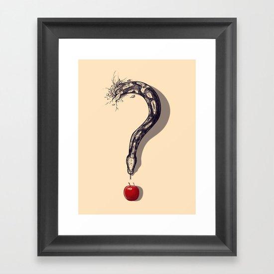 Curious Temptation Framed Art Print