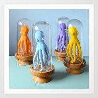 Handsome Octopuses Art Print