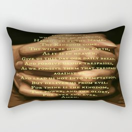 the Lord's prayer Rectangular Pillow