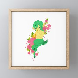 Faun and Flowers Framed Mini Art Print
