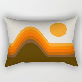 Golden Horizon Diptych - Left Side Rectangular Pillow