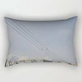 black wires of usuall city Rectangular Pillow