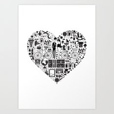 LIKES PATTERNS Art Print