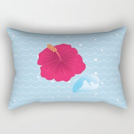 Hibiscus and Thunderhead reflected on the wave_R Rectangular Pillow