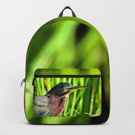 Green Heron Stare Backpack