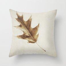 brown leaf Throw Pillow